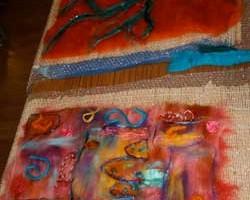felt artwork showing student's work